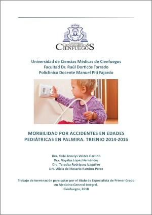 Morbilidad por accidentes en edades pediátricas en Palmira. Trienio 2014-2016