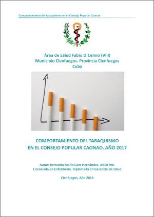 Comportamiento Del Tabaquismo En El Consejo Popularo Caonao. Año 2017